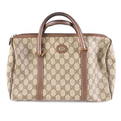 Gucci GG Supreme Canvas and Leather Handbag