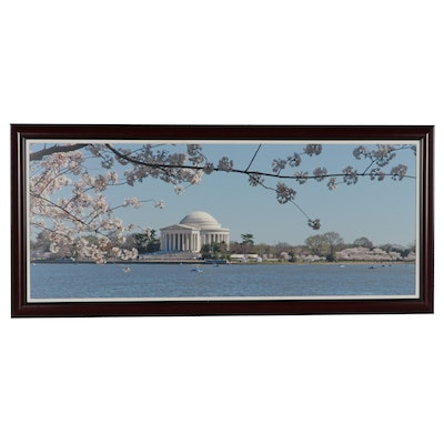 Photographic Print of Jefferson Memorial and Cherry Trees in Washington D.C.
