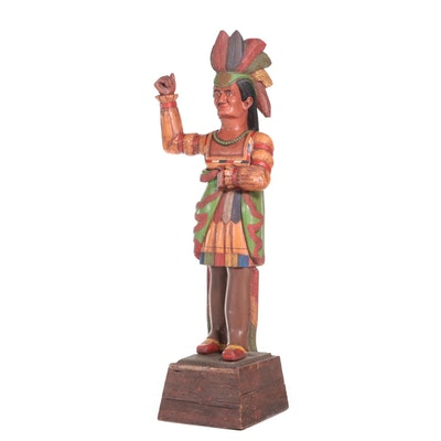 Cigar Store Statue of Native American, Early to Mid 20th Century
