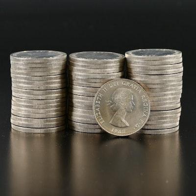50 Churchill Centennial Commemorative 1-Crown Coins, 1965