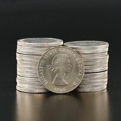 26 Churchill Centennial Commemorative 1-Crown Coins, 1965