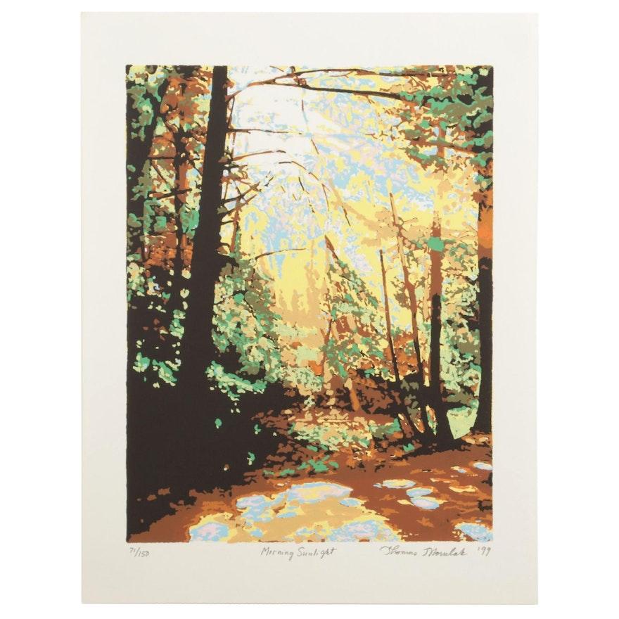 "Thomas Norulak Serigraph ""Morning Sunlight,"" 1999"