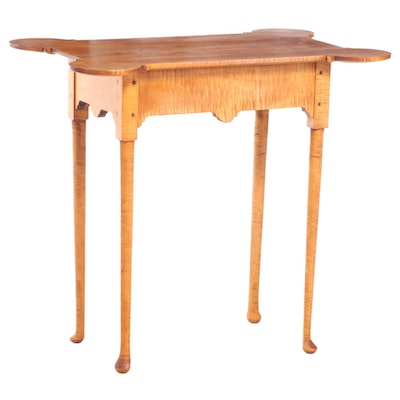 Stephen V. Arnold Queen Anne Style Curly Maple Tea Table