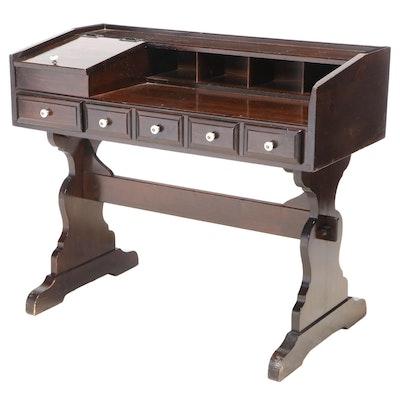 Pine Trestle-Base Writing Table, Late 20th Century