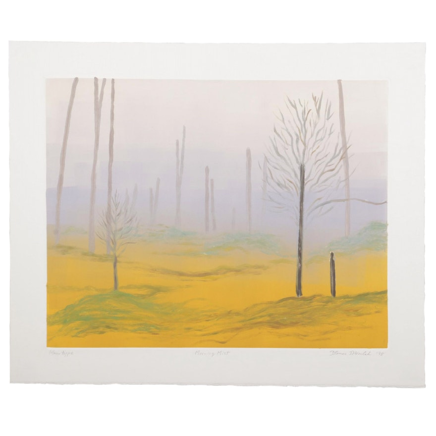 "Thomas Norulak Color Monotype ""Morning Mist,"" 1998"