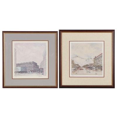 Jack Howard Offset Lithographs of Middletown Winter Scenes