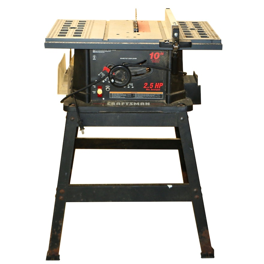 """Sears Craftsman 10"""" Benchtop Table Saw with Stand"""
