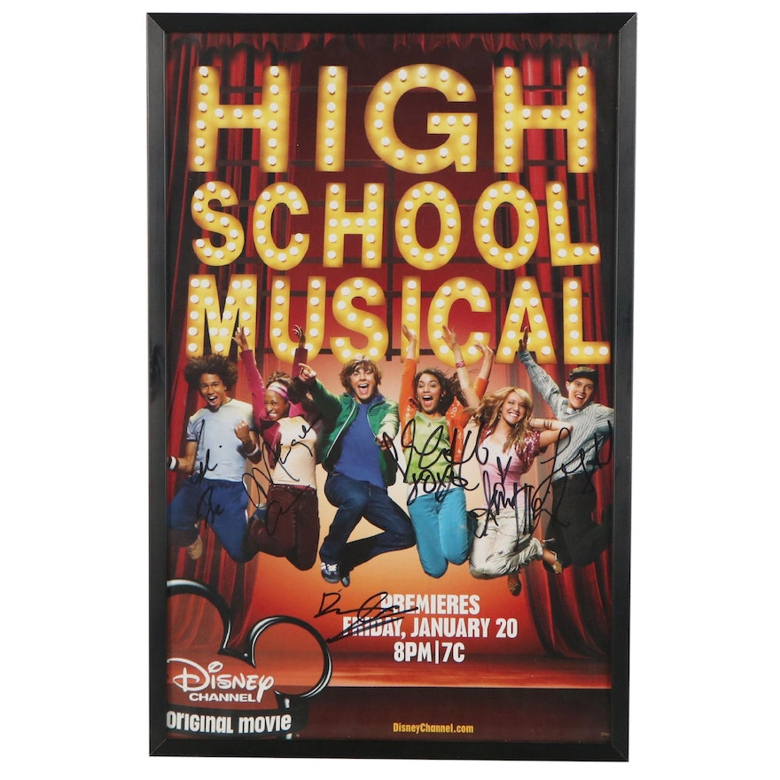 """Signed Offset Lithograph Poster of Disney's """"High School Musical"""""""