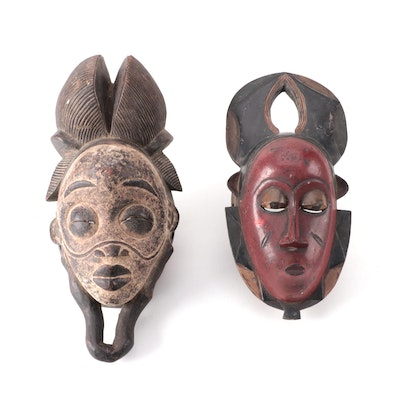 Guro and Punu Style Wood Masks, West and Central Africa
