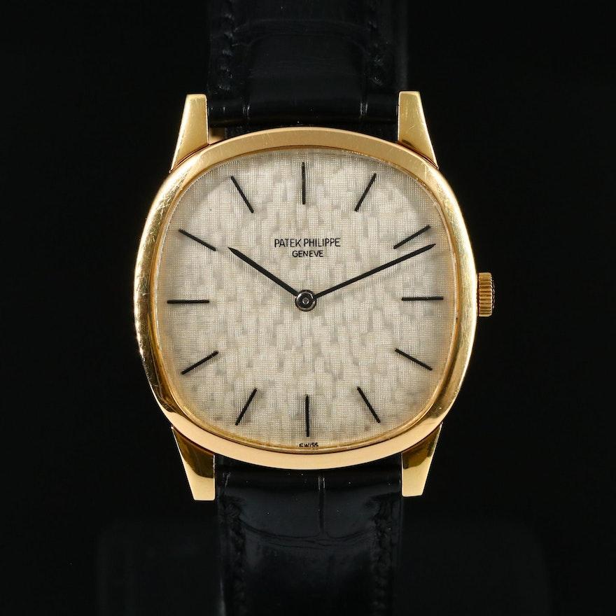Vintage Patek Philippe Ref. 3544 18K Yellow Gold Stem Wind Wristwatch