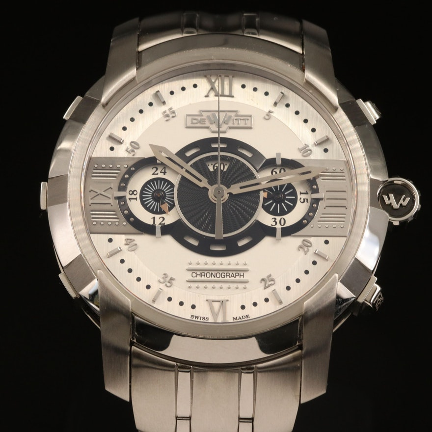 DeWitt Glorious Knight Chronograph Stainless Steel Automatic Wristwatch