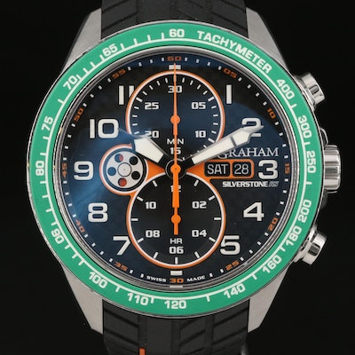 Graham Silverstone RS Chronograph Stainless Steel Automatic Wristwatch