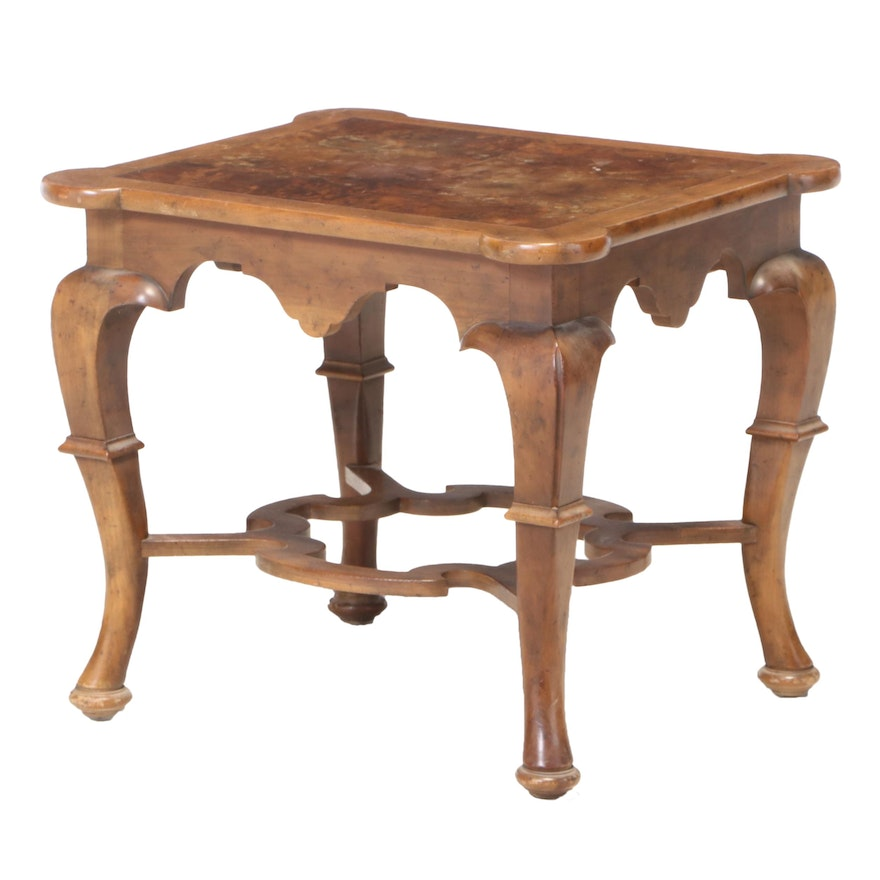 Baker Queen Anne Style Walnut Occasional Table, Late 20th Century