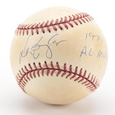 """Don Baylor Signed """"1979 AL MVP"""" Rawlings American League Baseball, COA"""