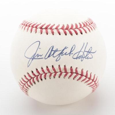 Jim Catfish Hunter Signed Rawlings Official League Baseball, COA