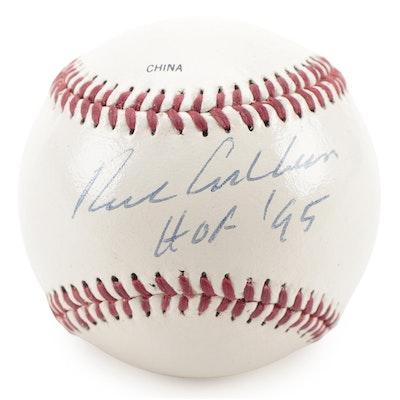 """Richie Ashburn Signed """"HOF '95"""" Rawlings Official League Baseball, COA"""