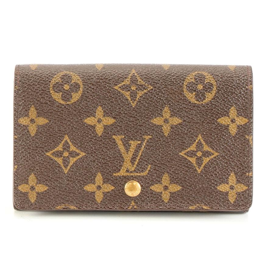 Louis Vuitton Porte-Monnaie Billets Trésor Wallet in Monogram Canvas