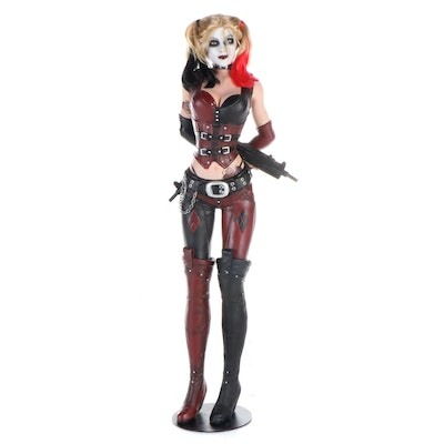 """Batman Arkham City """"Harley Quinn"""" Life Size Statue with Stand"""