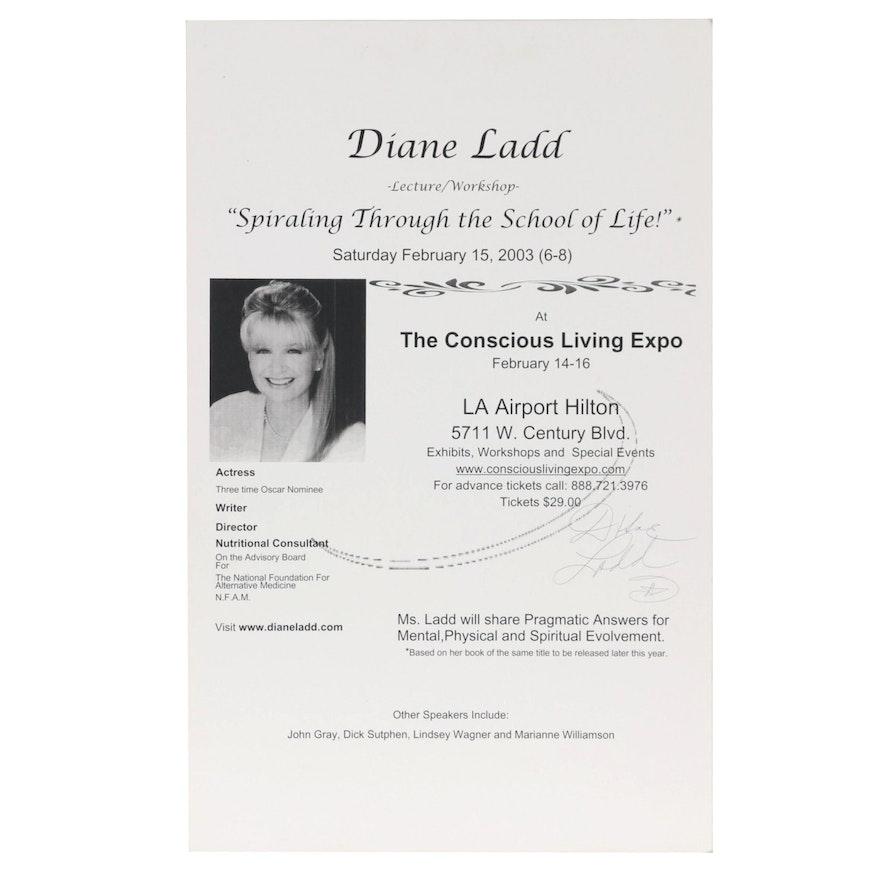 Diane Ladd Signed Lecture/Workshop Advertising Broadside