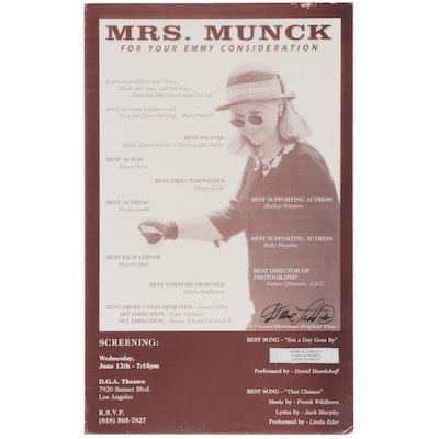 """Diane Ladd Signed """"Mrs. Munck"""" Broadside Movie Poster"""