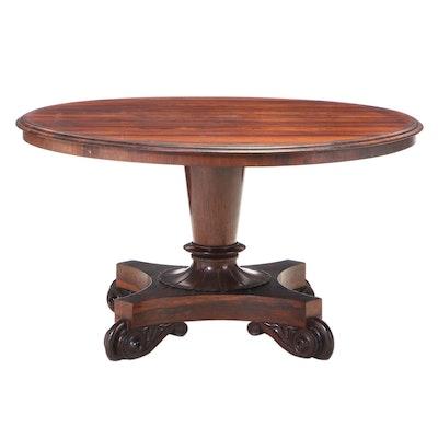 William IV Rosewood Center Table, Mid-19th Century