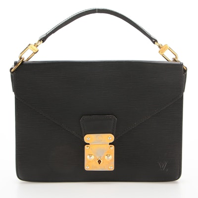 Louis Vuitton Sac Biface in Black Epi Leather