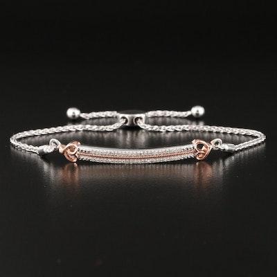 Hallmark Diamond Bar Bracelet with Heart Details