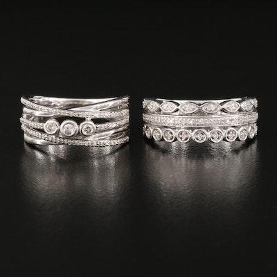 Sterling Silver Diamond Rings