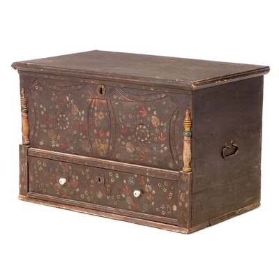 German Painted Pine Chest, Mid to Late 19th Century