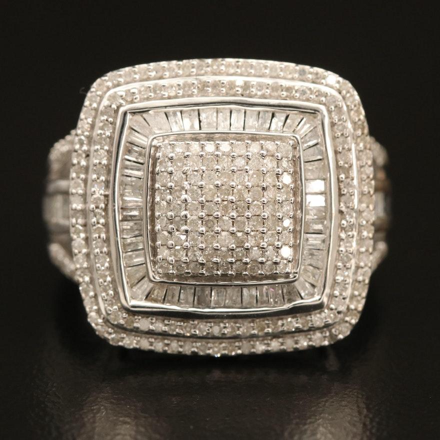 Sterling 1.00 CTW Pavé Diamond Ring
