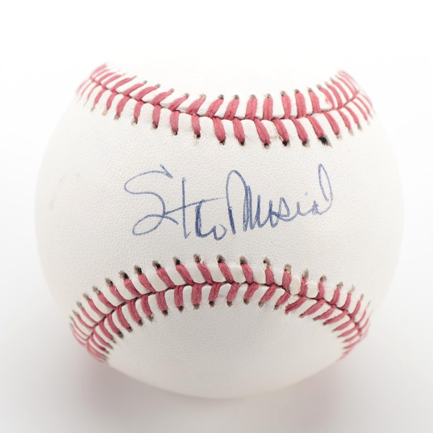 Stan Musial Signed Rawlings Official League Baseball, COA
