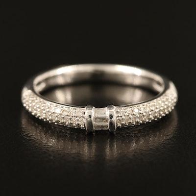 Sterling Pavé Diamond Ring