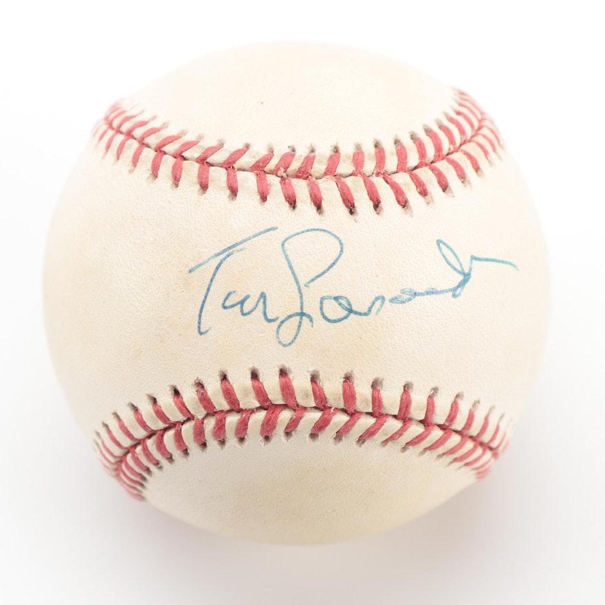 Tom Lasorda Signed Rawlings National League Baseball, COA