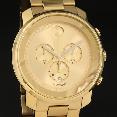 Stainless Steel Movado Bold Chronograph Wristwatch