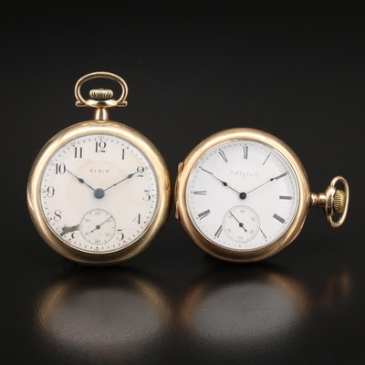 1910 and 1901 Elgin Pocket Watches