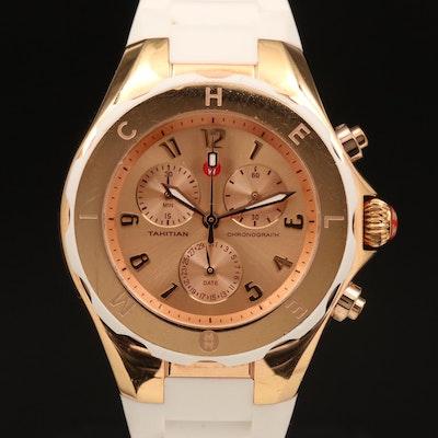 Michele Tahitian Chronograph Rose Gold Tone Quartz Wristwatch