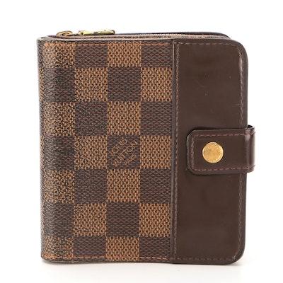 Louis Vuitton Compact Zippy Wallet in Damier Ebene