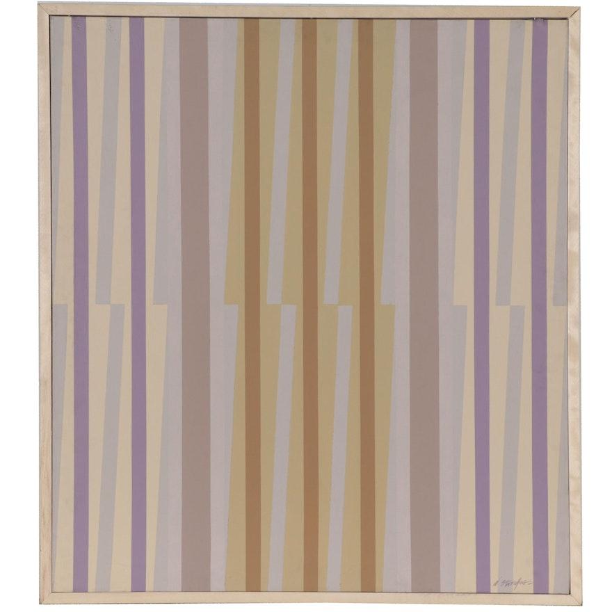 """Walter Stomps Acrylic Painting """"April Hues,"""" 1978"""