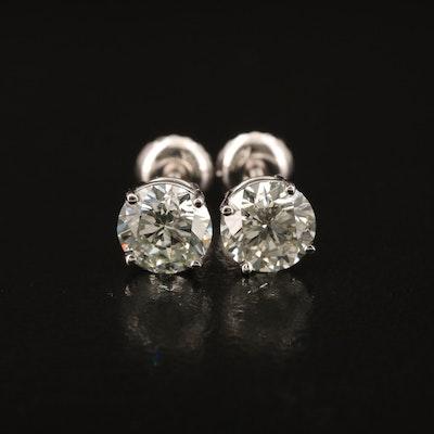 14K 1.84 CTW Diamond Stud Earrings