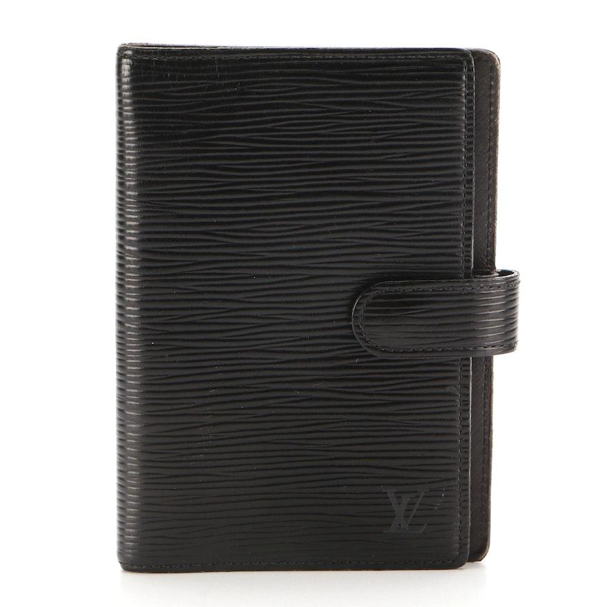 Louis Vuitton Agenda Fonctionnel PM in Black Epi Leather