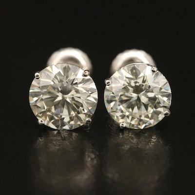 14K 3.37 CTW Diamond Stud Earrings