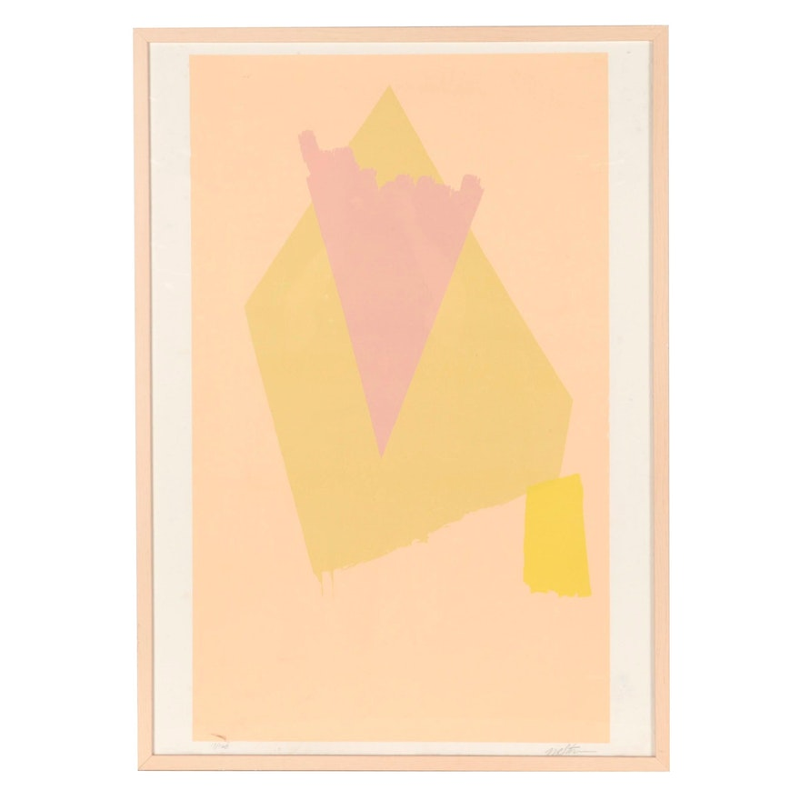 Michael Steiner Abstract Serigraph, 1979