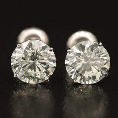 14K 2.99 CTW Diamond Stud Earrings
