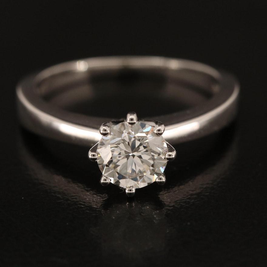 14K 0.92 CT Diamond Solitaire Ring