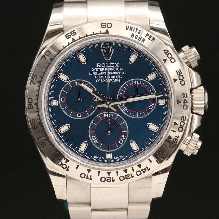 Rolex Oyster Perpetual Cosmograph Daytona # 116509H 18K White Gold Wristwatch