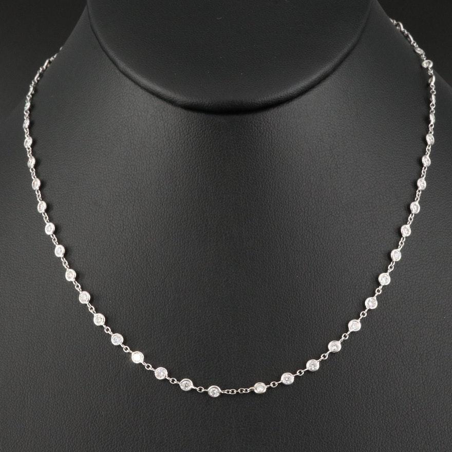 18K 2.00 CTW Diamond Station Necklace