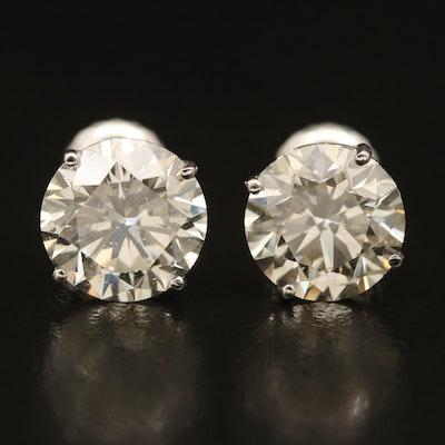 14K 3.66 CTW Diamond Stud Earrings