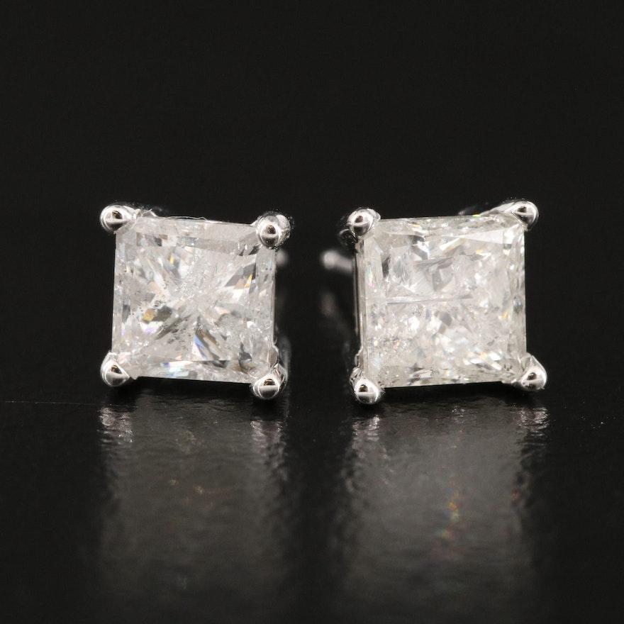 14K 2.04 CTW Diamond Stud Earrings