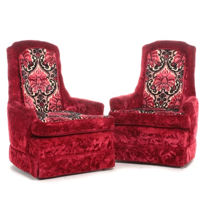 Pair of The Artistic Furniture Mfg. Co. Custom-Upholstered Armchairs, circa 1970