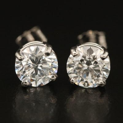 Platinum 2.24 CTW Diamond Solitaire Earrings with IGI Report
